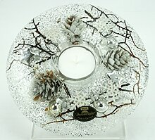 Dreamlight Teelichthalter Glas braun Größe