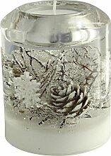 Dreamlight Teelichthalter Glas braun Größe 9x9x8