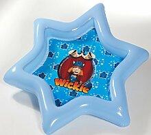 Dreams4Home Babypool 'Wickie' - Pool, Kinderpool, Schwimmbecken, Planschbecken, phtalatfrei, in Sternenform, Größe: 143 x 143 x 14 cm, Garten, Camping, Balkon, Terrasse, in blau
