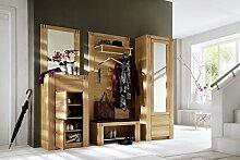 Dreams4Home Garderobe, Set, Wandpaneel, Bank,