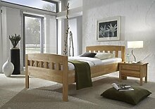 Dreams4Home Komfortbett 'Athen', Massiv, Bett, Komfort, Seniorenbett, Buche, natur, 90, 100, 120x200cm, Liegefläche:120x200 cm;Nachtkonsole:eine Nachtkonsole
