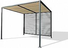 Dreams4Home Pergola 'Darran', Terrassenüberdachung, Pavillon, Terrassendach, Sonnendach, Überdachung, (B/L/H) ca. 280 x 280 x 245 cm, Garten, in lichtgrau