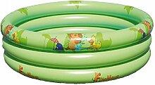 Dreams4Home Planschbecken 'Die Maus' - Pool, Kinderpool, Schwimmbecken, phtalatfrei, mit Die Maus Logo, ø 120 cm, ø 140 cm und ø 170 cm, Höhe ca. 30 cm, Garten, Camping, Balkon, Terrasse, in grün, Größe:Ø 170 cm