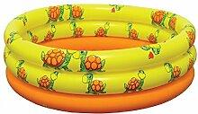 Dreams4Home Planschbecken 'Tortuga' - Pool, Kinderpool, Schwimmbecken, phtalatfrei, ø 175 cm, Höhe: 35 cm, Garten, Camping, Balkon, Terrasse, in orange / grün