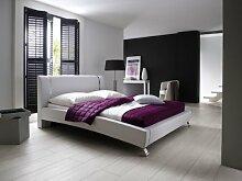 Dreams4Home Polsterbett mit Kunstlederbezug 'Antigua' 140,160,180x200 cm, Weiß, Liegefläche:140x200 cm