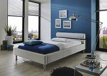 Dreams4Home Polsterbett mit Kunstlederbezug 'Atlas' 100,120,140,160,180x200 cm, Weiß, Liegefläche:180x200 cm
