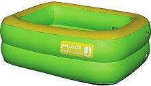 Dreams4Home Pool 'Giant Splash' - Pool, Planschbecken, Schwimmbecken, phtalatfrei, Größe: 170 x 130 x 48 cm, Füllmenge: 350 l, Garten, Camping, Balkon, Terrasse, in grün