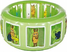 Dreams4Home Stege Pool 'Die Maus' - Pool, Kinderpool, Schwimmbecken, Planschbecken, phtalatfrei, mit Die Maus Logo, ø 175 cm, Höhe ca. 60 cm, Garten, Camping, Balkon, Terrasse, in grün