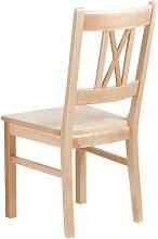 Dreams4Home Stuhl Modell 182a; ohne Armlehne; B 45 x T 42 x H 96cm; Ahorn europäisch, Ausführung:Lackier