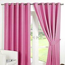 Dreamscene Blackout Luxus Vorhang mit Ösen, Pink,