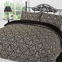 Dreamscene Damast Bettbezug Bettwäsche Set mit