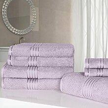 100/% Cotton Handtuch Bündel 6 Stück Vorderseite Hand Bade Pink