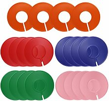 dreamtop 20PCS Multicolor Kleidung Rack Größe Trennwände blanko rund Kleiderbügel Trennwände für Closet, Retail Kleidung Racks