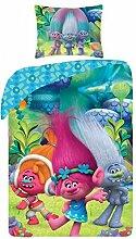 DreamWorks Trolls Trolle Poppy Kinderbettwäsche Babybettwäsche Bettwäsche TM-9009BL 140x200 cm + 70x90 cm