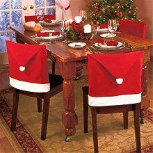 Dreamworldeu 4er Stuhlhusse Weihnachten Deko