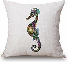 DreamyDesign Bunt Tier Tatoo Dekorative Reißverschluss Baumwolle Leinen Quadrat Bett Sofa Kaffeehaus Kissenbezug