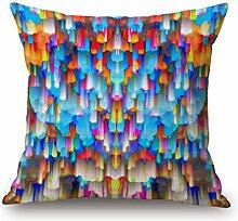 DreamyDesign Fantasie Farbig Bunt Kissenbezug Baumwolle Leinen Quadrat Bett Sofa Kaffeehaus Kissenbezug