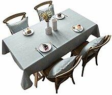 DreamyDesign Leinen Tischdecke Fleckschutz