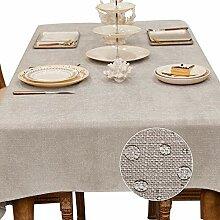 DreamyDesign Schöne Leinenoptik Tischdecke