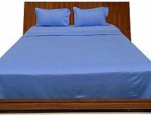 Dreamz Bedding- 1000 Fadendichte – 4pc Plansatz-ägyptischer Baumwolle, Deep Pocket Größe King 66.04 cm hellblau 1000TC aus 100% Baumwolle