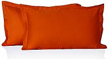 Dreamz bedding- Fadenzahl 400Körper Kissen 100% ägyptische Baumwolle orange massiv