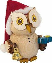 Drechslerei Kuhnert Mini-Eule Weihnachtsmann - 7 cm