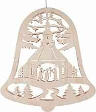 DREGENO Fensterbild Glocke mit Seiffener Kirche,