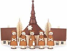 DREGENO Seiffen Kurrende mit Seiffener Dorf, Holz,