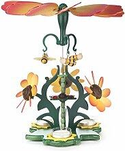 DREGENO Seiffen Pyramide Blütenzauber mit Bienen,