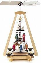 DREGENO Seiffen Pyramide mit Christi Geburt