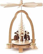 DREGENO Seiffen Pyramide mit Kurrende für Kerzen,