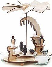 DREGENO Seiffen Pyramide mit Pinguinen für