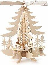 DREGENO Seiffen Pyramide mit Rehen für Kerzen,