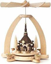 DREGENO Seiffen Pyramide mit Seiffener Kirche,