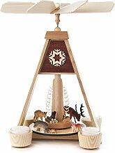 DREGENO Seiffen Pyramide mit Waldtieren für