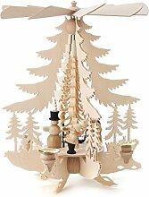DREGENO Seiffen Pyramide mit Weihnachtsfiguren,