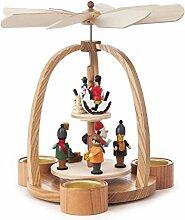 DREGENO Seiffen Pyramide mit Weihnachtsmann, Holz,