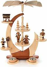 DREGENO Seiffen Pyramide Segel mit Waldfiguren,