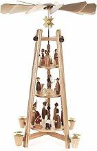DREGENO Seiffen Stabpyramide mit Christi Geburt,