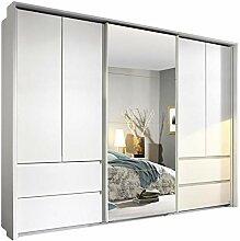Dreh-/Schwebetürenschrank weiß 5 Türen B 278 cm