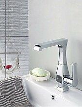 drehbar Messing verchromt Waschbecken Wasserhahn–Silber