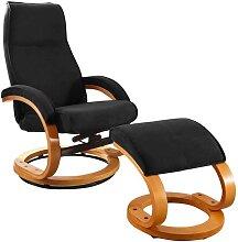 Drehbarer Design Sessel in Schwarz Microfaser