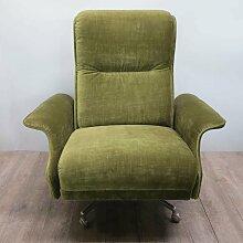 Drehbarer deutscher Vintage Sessel in Grün