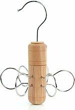 Drehbarer Zedernholz Krawatten- und Schalbügel - Hangerworld