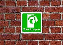 Drehen zu öffnen HSE Schild Gesundheit &