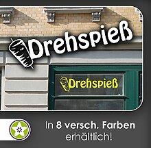 Drehspieß spf Döner Kebap Hackfleisch Schaufenster Aufkleber Fenster Imbiss 35_pastellorange-120 cm