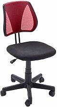 "Drehstuhl Bürostuhl Chefsessel Schreibtischstuhl Chefsessel Stuhl Büro ""Brita"" (Rot/Schwarz)"