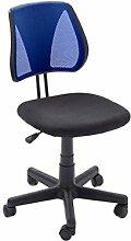 "Drehstuhl Bürostuhl Chefsessel Schreibtischstuhl Chefsessel Stuhl Büro ""Brita"" (Blau/Schwarz)"