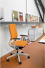 DREHSTUHL Webstoff Grau, Orange, Weiß