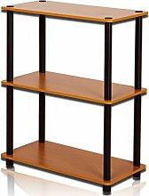 Drei Ebenen Bücherregal Wohnzimmer Einfache Regal Einfache Home Storage Rack Display Ständer Display Stand ( Farbe : #1 )